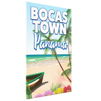 Bocas Town Panama Beach travel poster Canvas Print