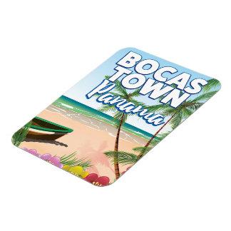 Bocas Town Panama Beach travel poster Magnet