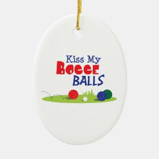 Bocce Ball Game Ceramic Ornament