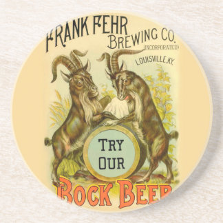 Bock Beer Goats Coaster