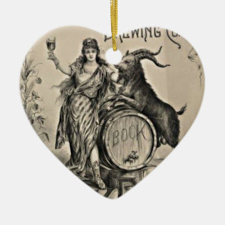 Bock Beer old advertising Ceramic Ornament