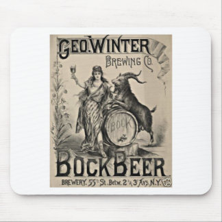 Bock Beer old advertising Mouse Pad