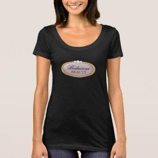 Bodacious Beauty Makeup Diamond Mauve Gold Logo. T-Shirt