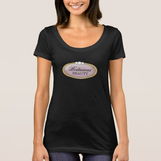 Bodacious Beauty Makeup Diamond Mauve Gold Logo. T-Shirt