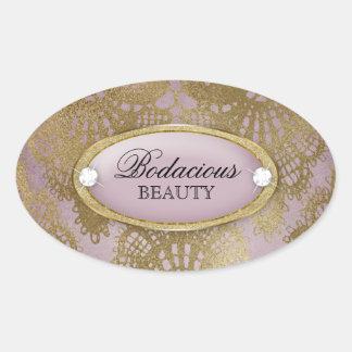 Bodacious Beauty Mauve Gold Lace Sticker