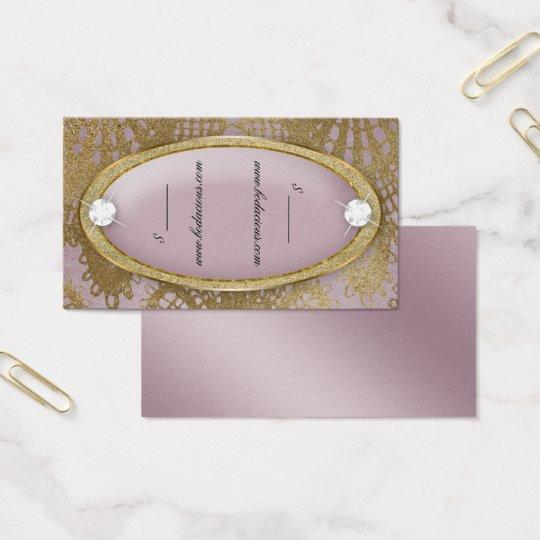 Bodacious Beauty Price Tag Lace Diamond Mauve Gold