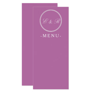 Bodacious Orchid Lilac with White Wedding Detail 10 Cm X 24 Cm Invitation Card
