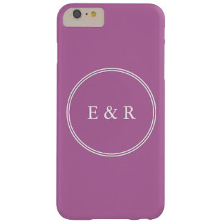 Bodacious Orchid Lilac with White Wedding Detail Barely There iPhone 6 Plus Case