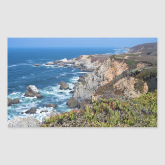 Bodega Head Rugged Coast and Trail Rectangular Sticker