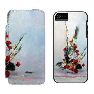 Bodegón of flowers/Still life of flowers Incipio Watson™ iPhone 5 Wallet Case