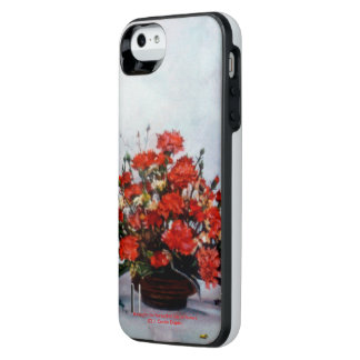 Bodegón of flowers/Still life of flowers iPhone SE/5/5s Battery Case