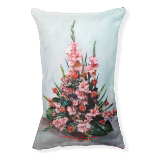 Bodegón of flowers/Still life of flowers Pet Bed