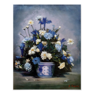 Bodegón of flowers/Still life of flowers Poster