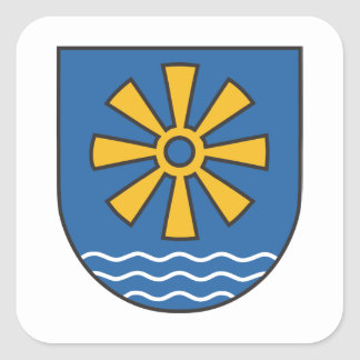 Bodensee district coat of arms square sticker