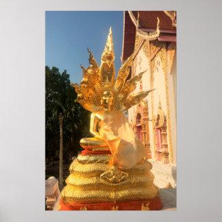 Bodhisattva and 7 Headed Naga Poster