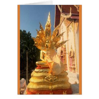 Bodhisattva at Wat Doi Saket, Chiang Mai, Thailand Card