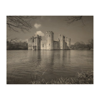 Bodiam Castle 14th-Century Moated Castle Wood Wall Art