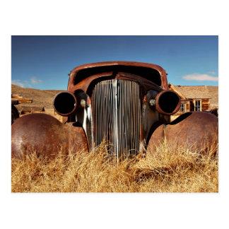 Bodie Abandoned Car Postcard