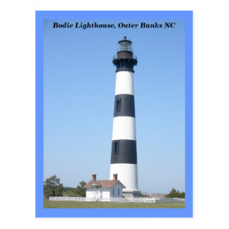 Bodie Island Lighthouse OBX North Carolina Post Card