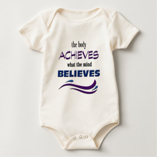 Body Achieves, Mind Believes Baby Bodysuit