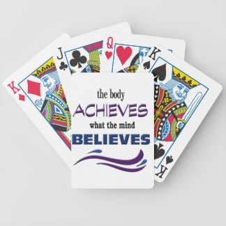 Body Achieves, Mind Believes Bicycle Playing Cards