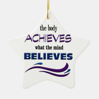 Body Achieves, Mind Believes Ceramic Star Decoration