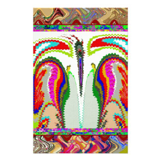 Body and Soul Abstract Graphic Art Stationery