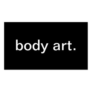 Body Art Business Card Templates