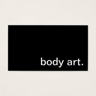 Body Art Business Card