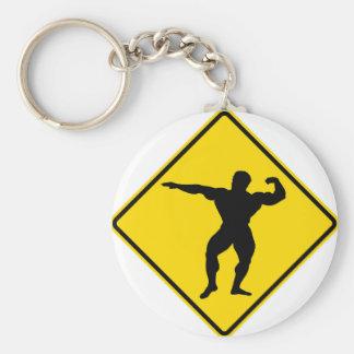 """Body Builder 1"" design Basic Round Button Key Ring"