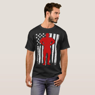 BODY BUILDER FLAG AMERICAN T-Shirt