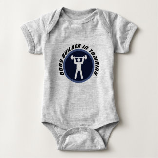 Body Builder in training baby unisex bodysuit