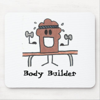 Body Builder Mouse Pad