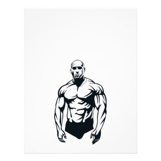 body-builder_vector_image man muscular sports 21.5 cm x 28 cm flyer