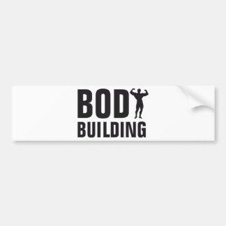body building bumper sticker