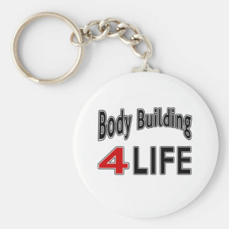 Body Building For Life Basic Round Button Key Ring