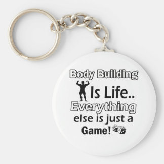 Body Building Gift Designs Keychains