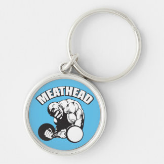 """""""Body building"""" Humor - MEATHEAD Silver-Colored Round Key Ring"""