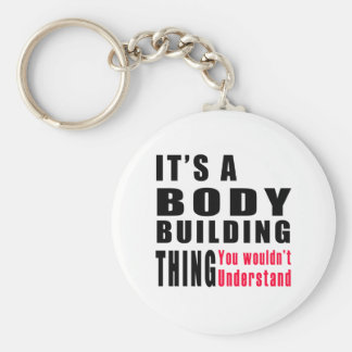 Body Building Thing Designs Keychain