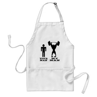 Body Building Your Man vs My Man Apron