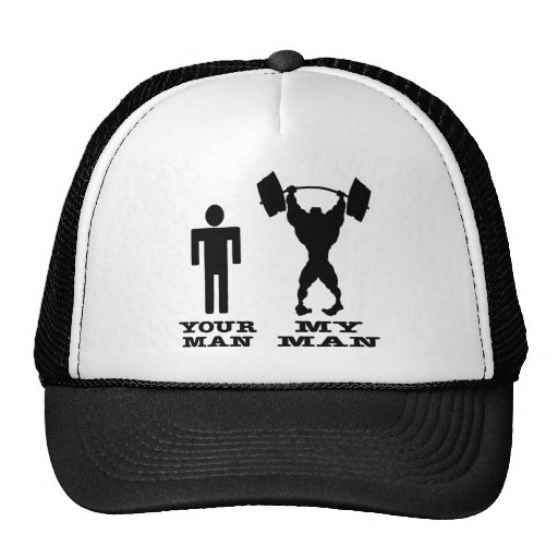 Body Building Your Man vs My Man Mesh Hats