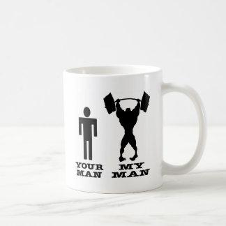 Body Building Your Man vs My Man Mug