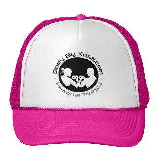 Body By Kristi Trucker Hat-Pink/White Cap