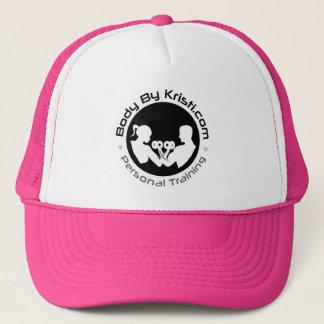 Body By Kristi Trucker Hat-Pink/White Trucker Hat
