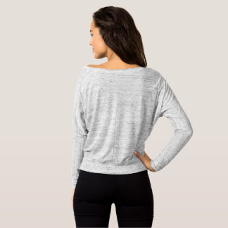 Body By Kristi Women's Off-Shoulder Top-Grey T-Shirt
