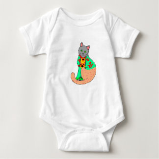 Body for you drink with cat drawing baby bodysuit