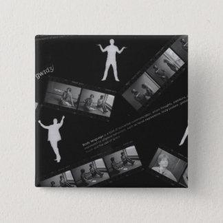 Body Language Photogram 15 Cm Square Badge