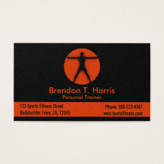 Body Madness Black Personal Trainer Business Cards