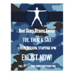 Body Madness Blue Camo Boot Camp Fitness Flyers