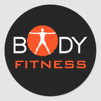 Body Madness Fitness Custom Black Round Stickers